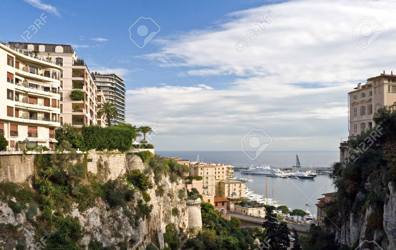 Monte Carlo pier view from the top of the main railway station Stock Photo - 15470097