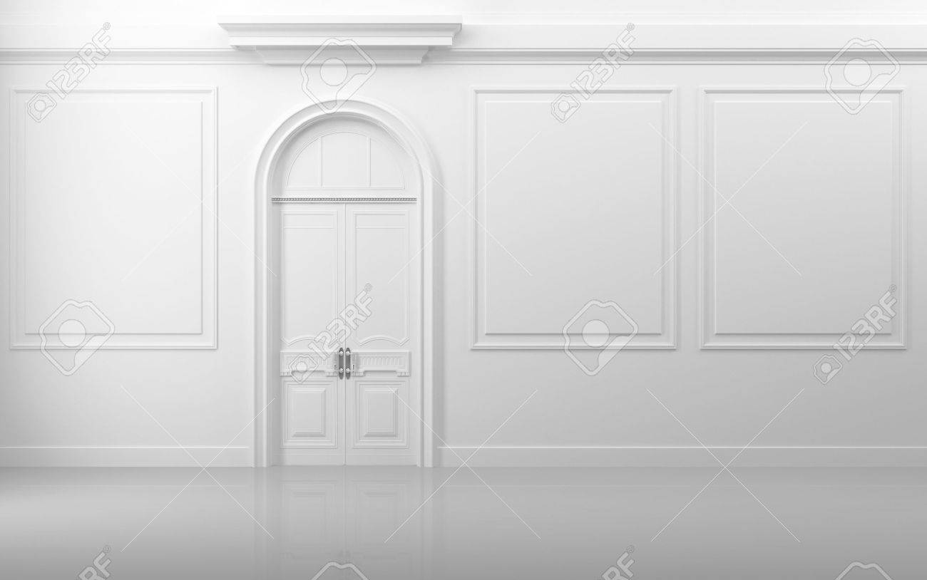 white door texture. background texture decoration white interior with closed door and frames stock photo 15546283