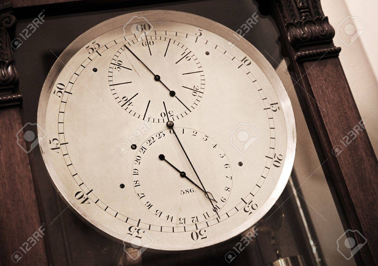Vintage esfera del reloj de cronómetro antiguo