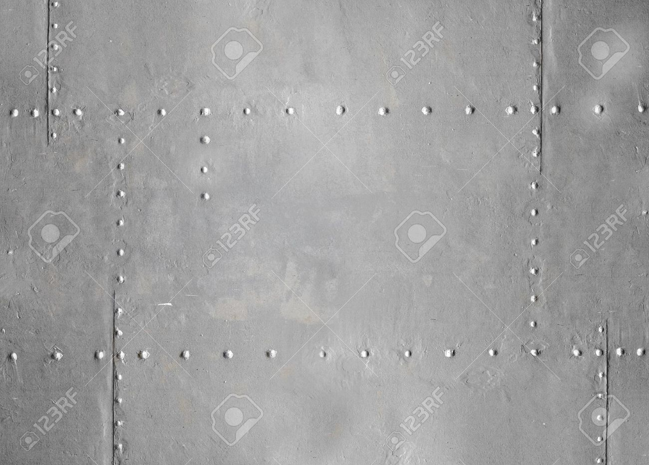 metal wall texture. Abstract Detailed Gray Metal Wall Background Texture With Seams And Rivets  Stock Photo - 17961834