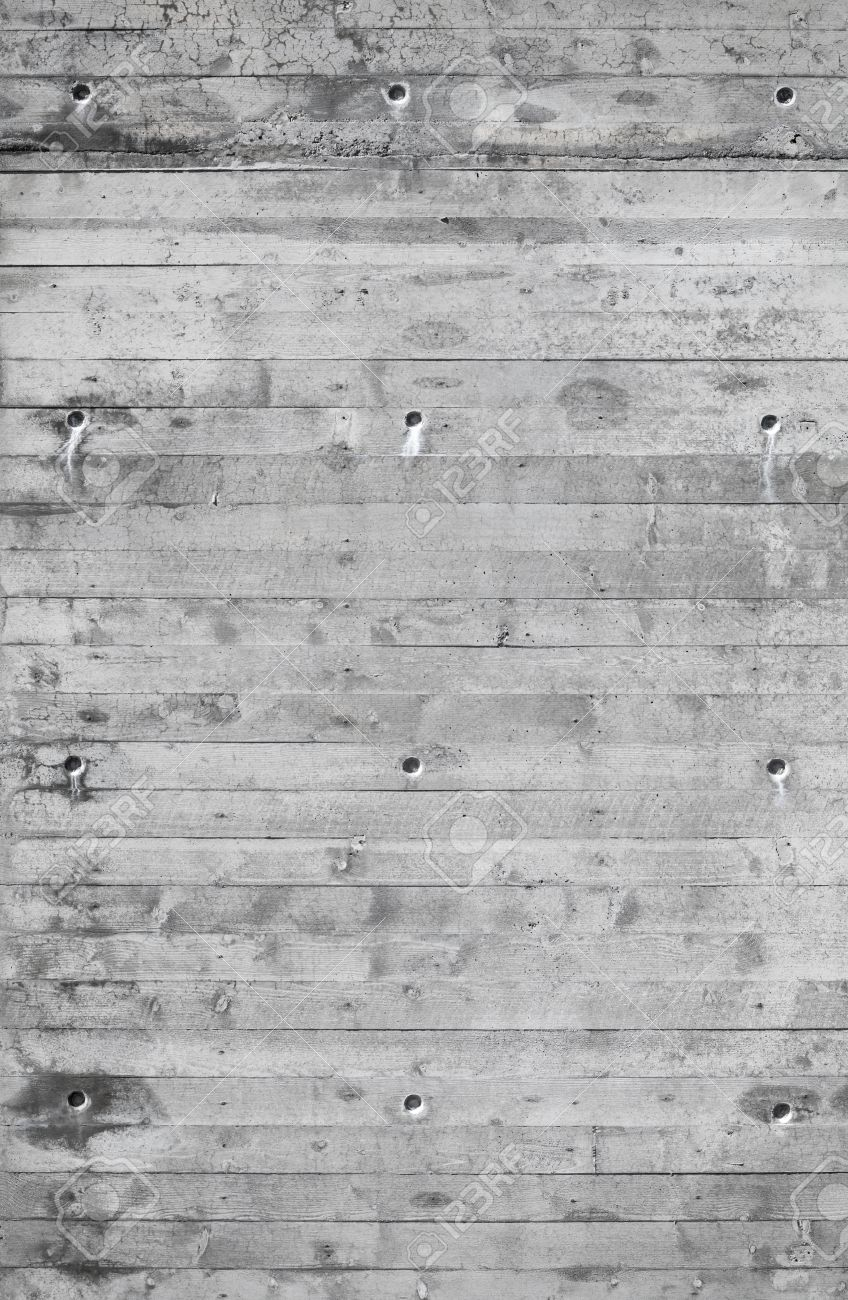 Background texture of modern gray concrete wall with wood relief pattern Stock Photo - 19928308