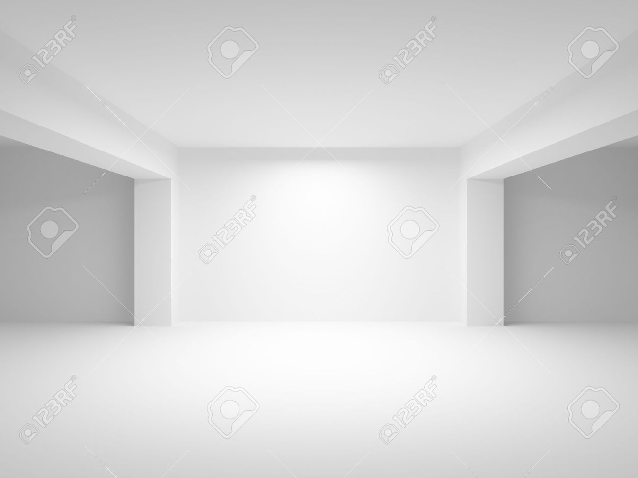 abstract white empty interior perspective background 3d illustration stock illustration 23946627