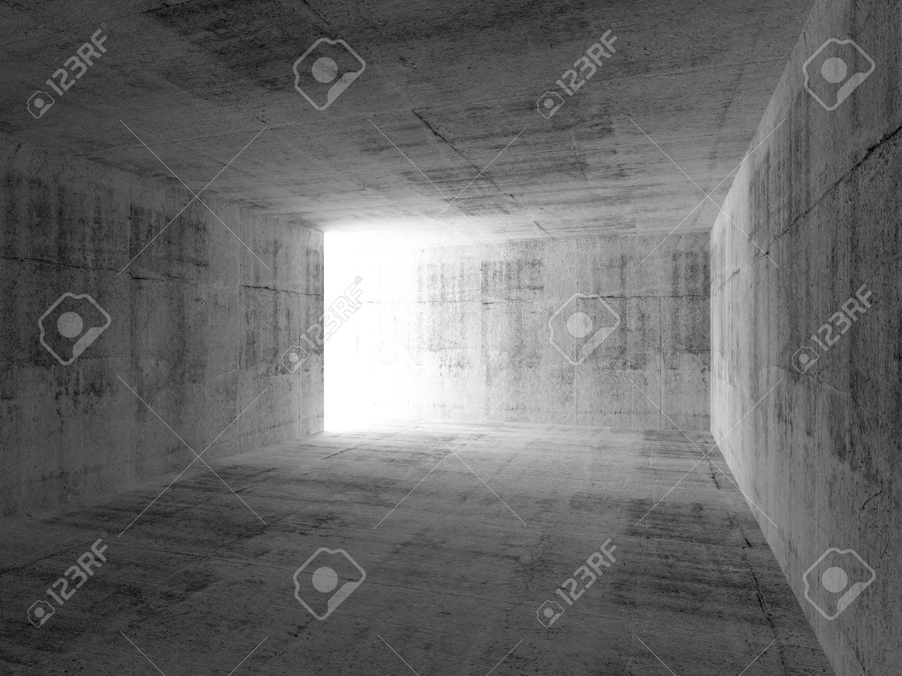 Interior Vacío Cuarto Oscuro Abstracto Con Muros De Hormigón Fotos ...
