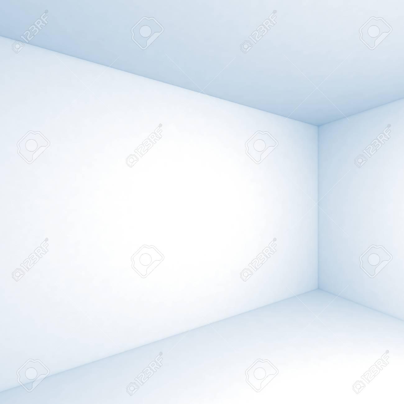 Leere Weiße Raum 3d Interior Hintergrund Corner Mit Weichen Blauen