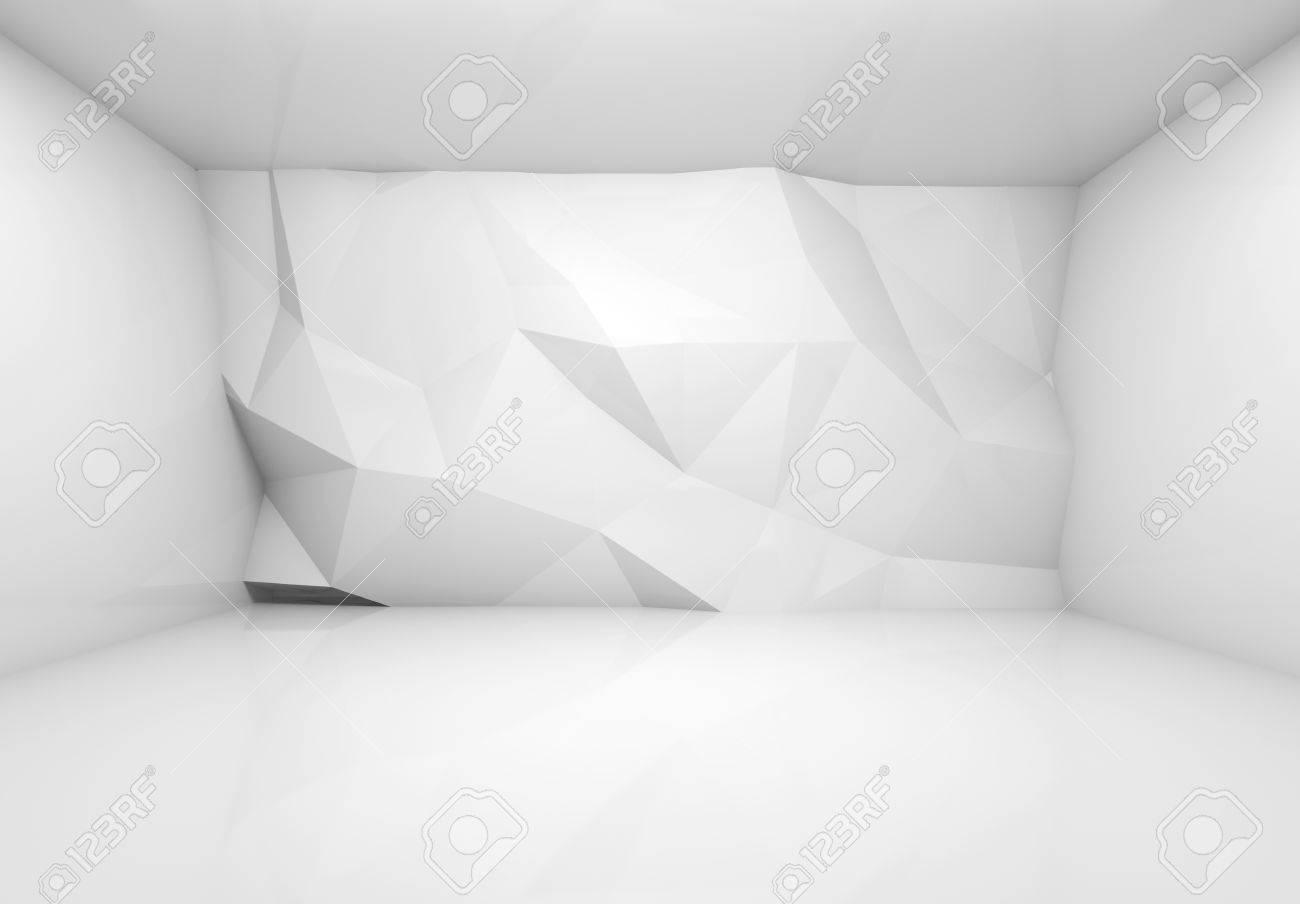 Abstract 3d Intérieur Blanc Avec Motif En Relief Sur Le Mur ...