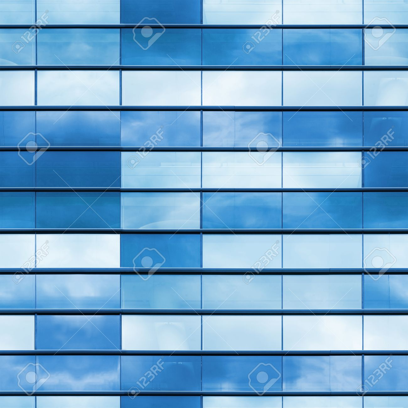 Glass facade texture  Modern Office Building Wall Made Of Blue Glass And Steel Frame ...