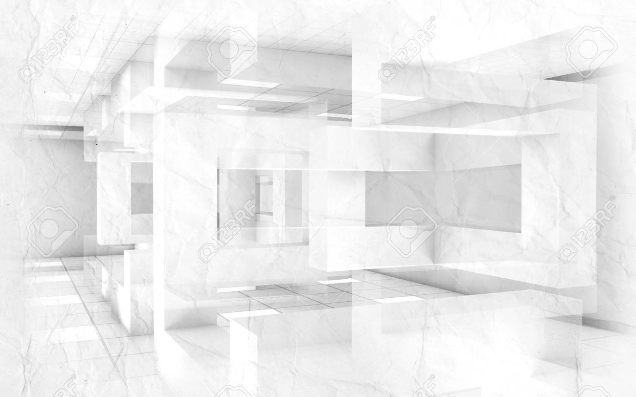Abstract creative architecture blueprint background interior abstract creative architecture blueprint background interior with chaotic geometric constructions and paper texture 3d malvernweather Choice Image