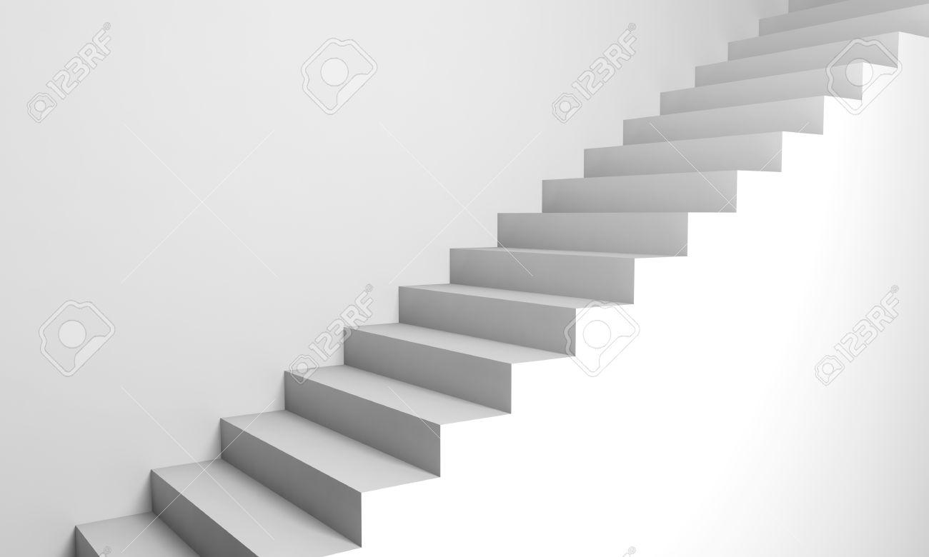 fondo abstracto escaleras d blancas en la pared foto de archivo