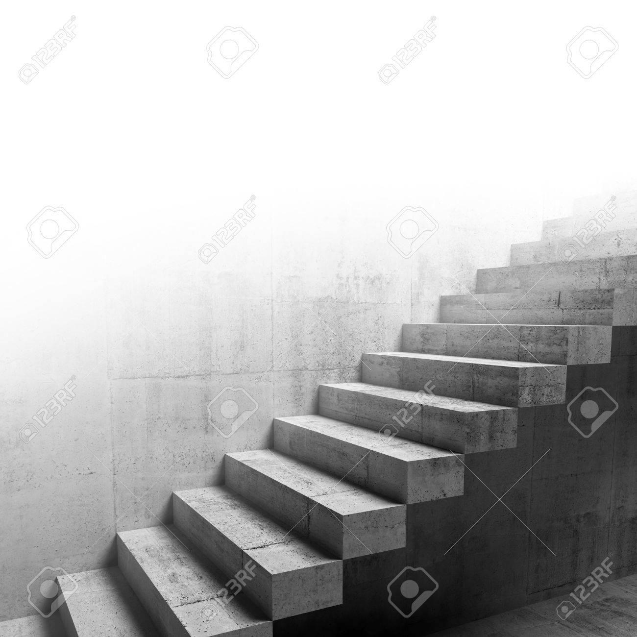 Abstract Fragment Intérieur Du Béton, La Construction Des Escaliers En  Porte à Faux Sur Le