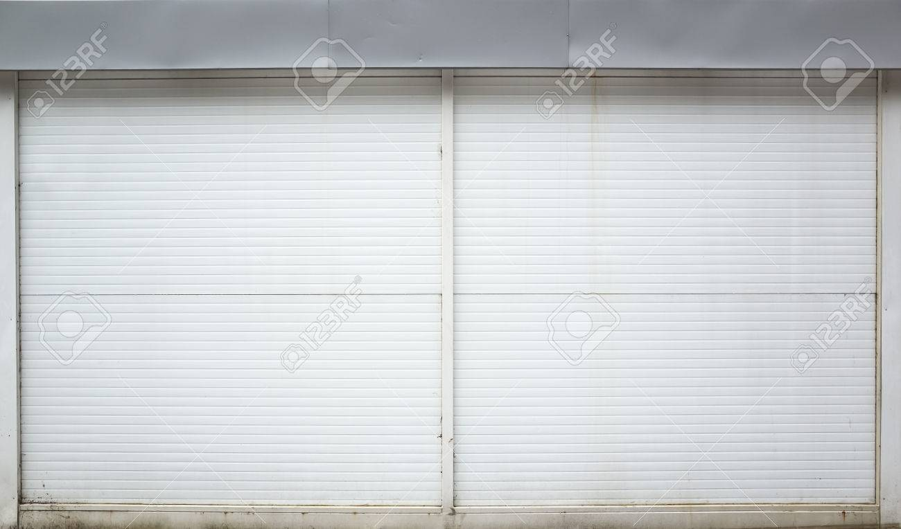 metal wall texture. Stock Photo - White Ridged Garage Metal Wall, Background Texture Wall E