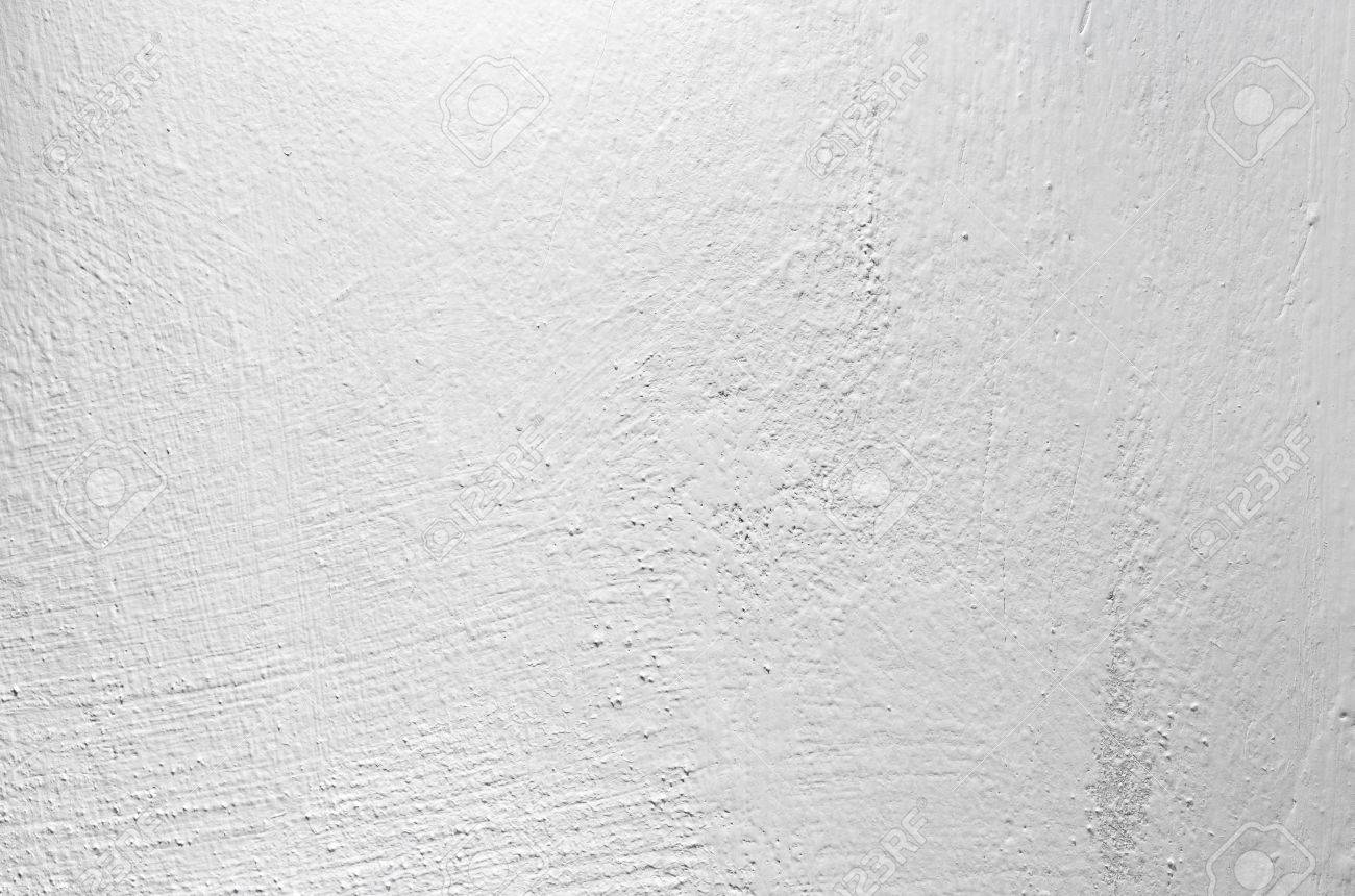 White Painted Concrete Wall Closeup Background Photo Texture Stock
