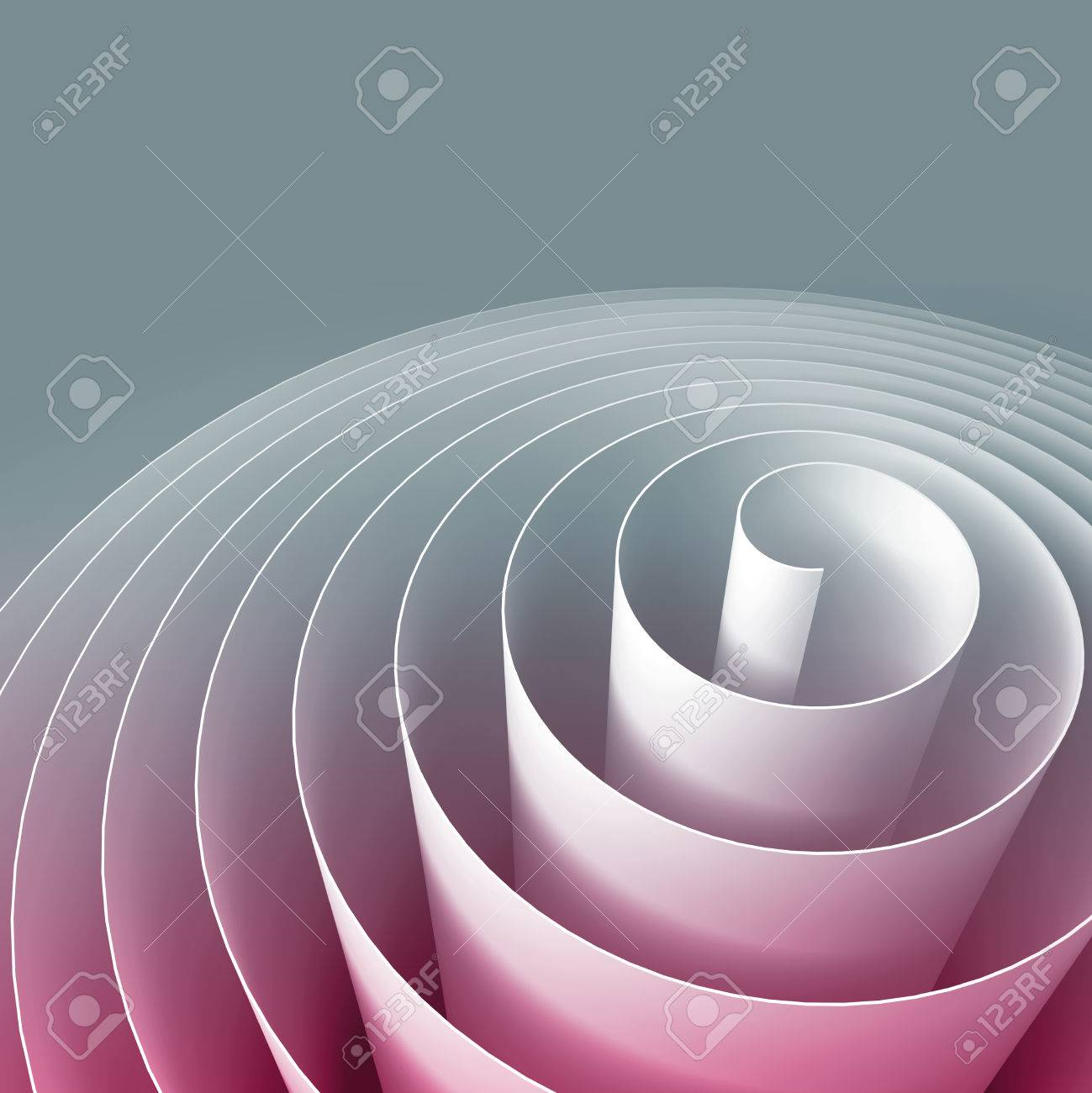 Colorful 3d Spiral Abstract Digital Illustration Background