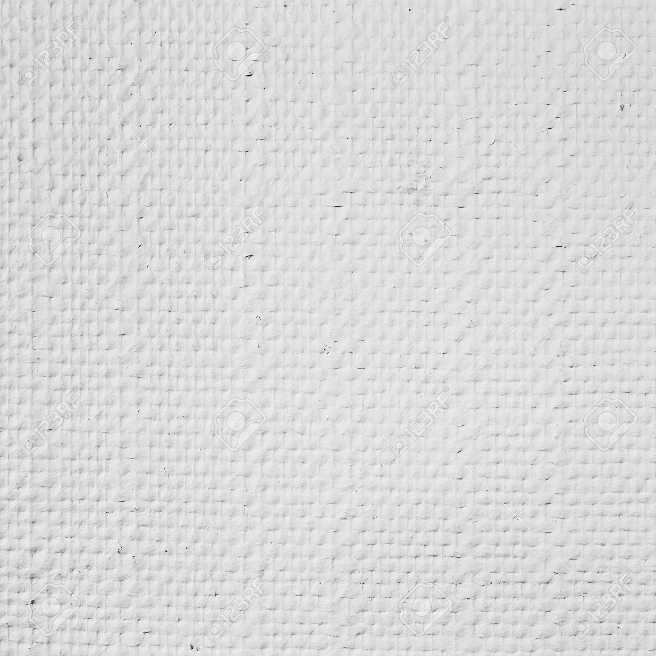 Stock Photo   White Embossed Paintable Wallpaper, Square Detailed  Background Photo Texture