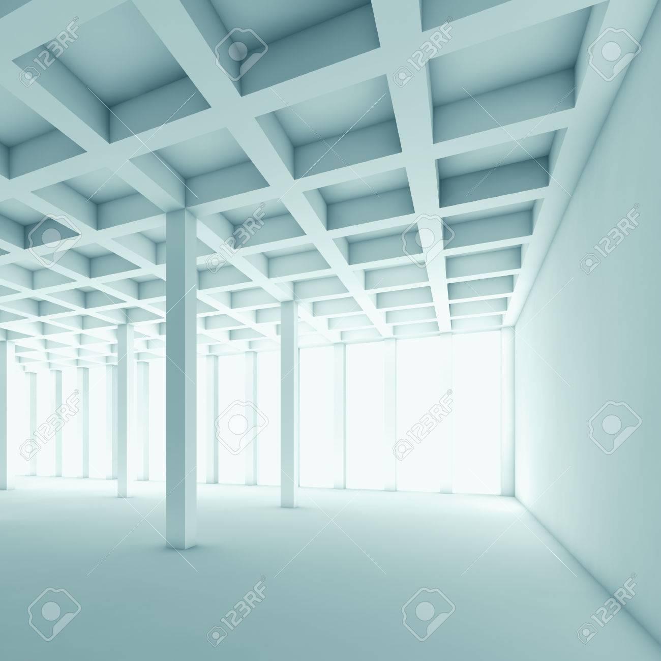 Abstrait Arrière Plan De Lu0027architecture Avec Vue En Perspective De La  Chambre Vide