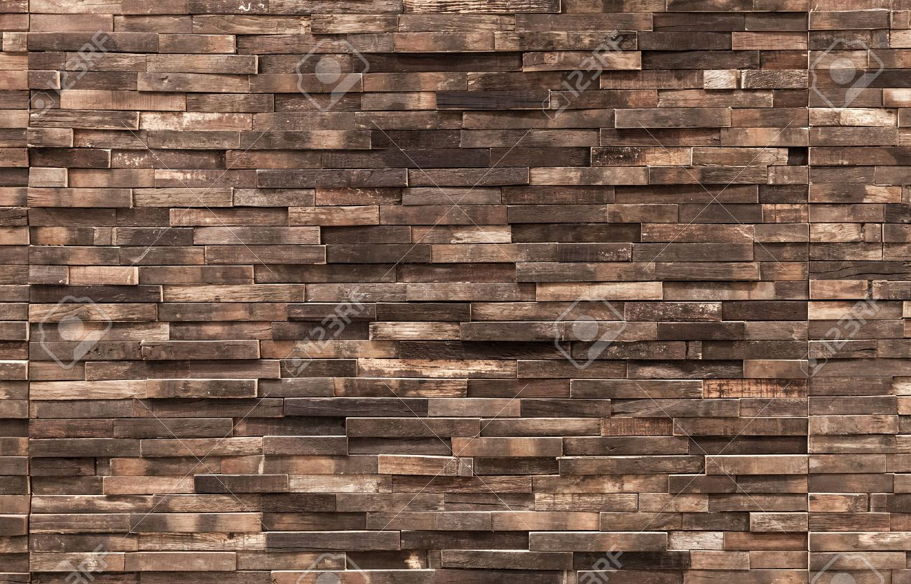 decorative wooden wall background texture, natural wallpaper.. stock