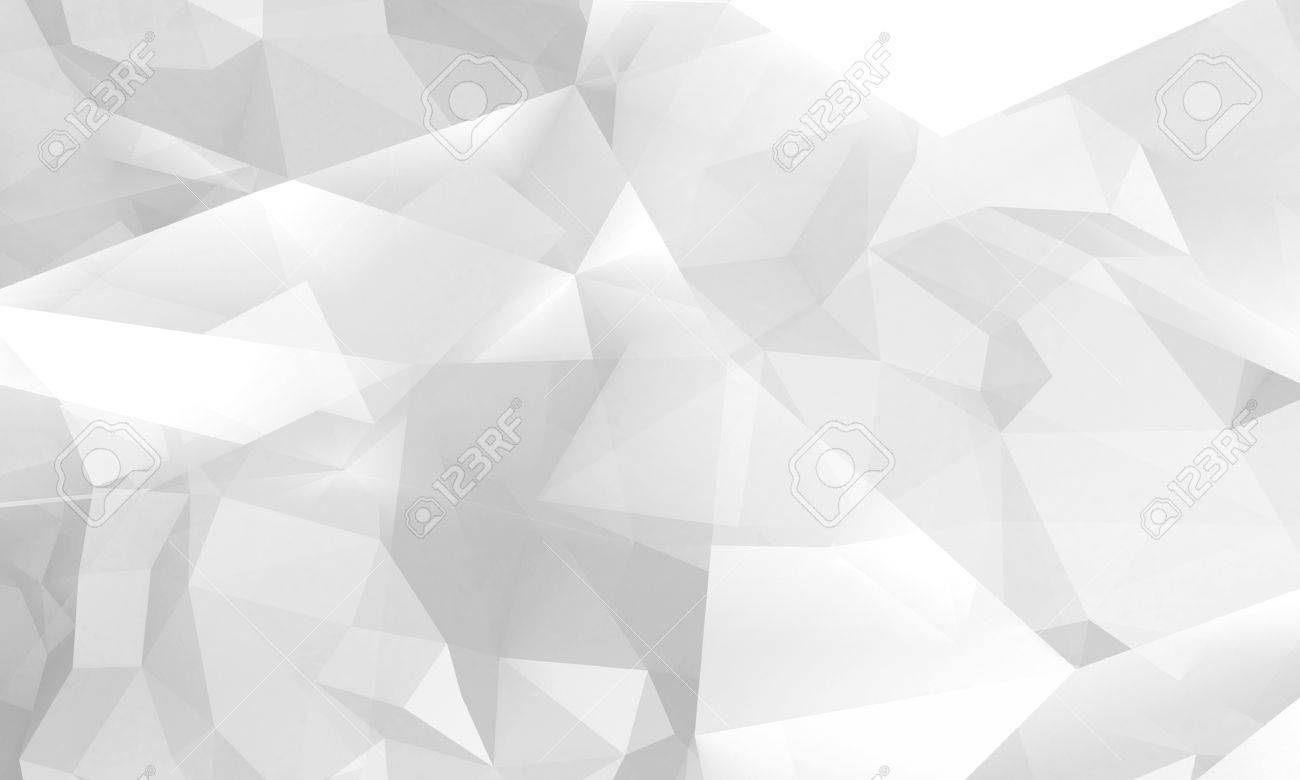 Abstract White Digital 3d Chaotic Polygonal Background Modern Computer Graphic Pattern Useful As A Wallpaper