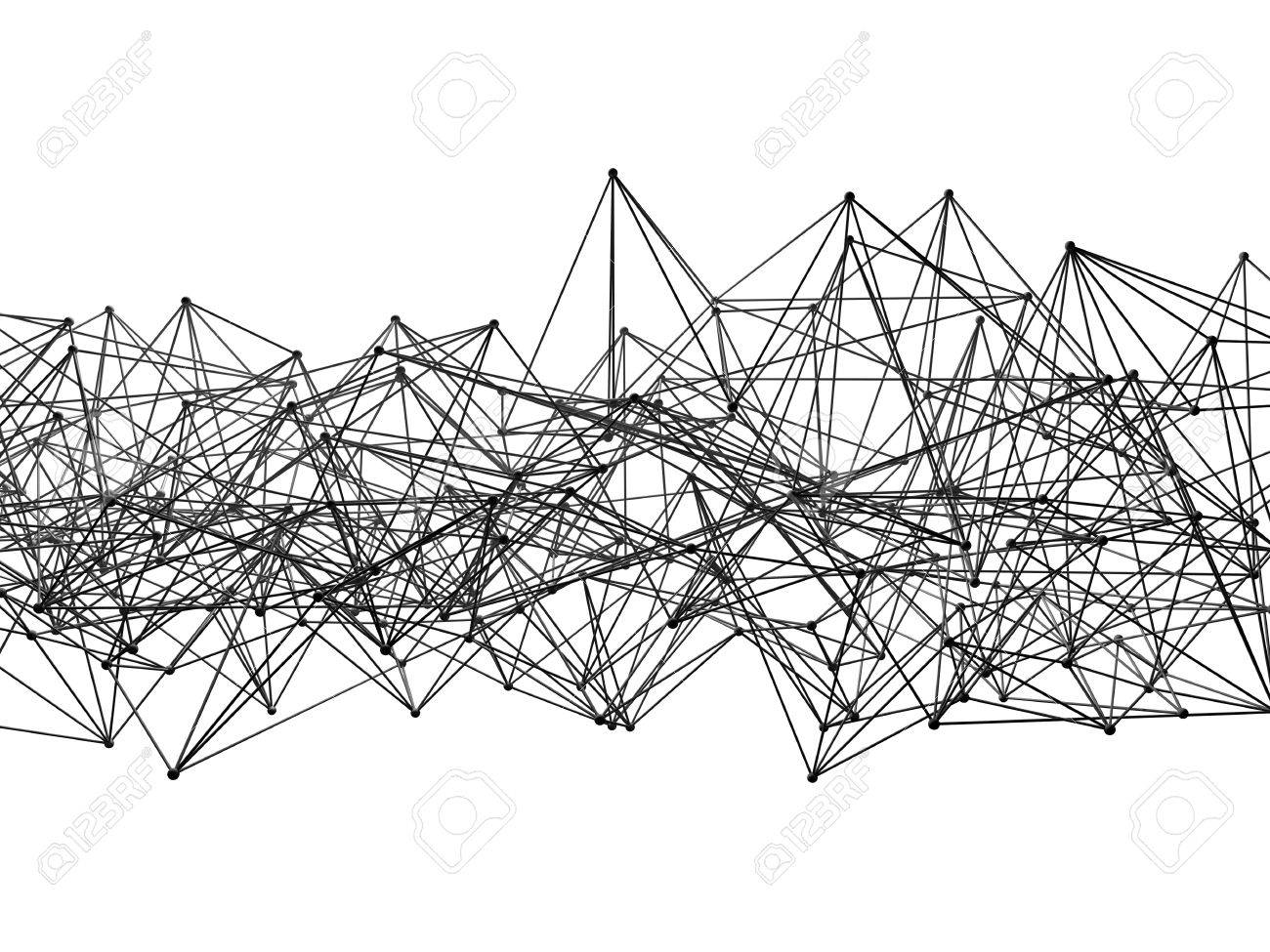 Abstract Wire Frame Lattice Mesh Structure Isolated On White.. Stock ...
