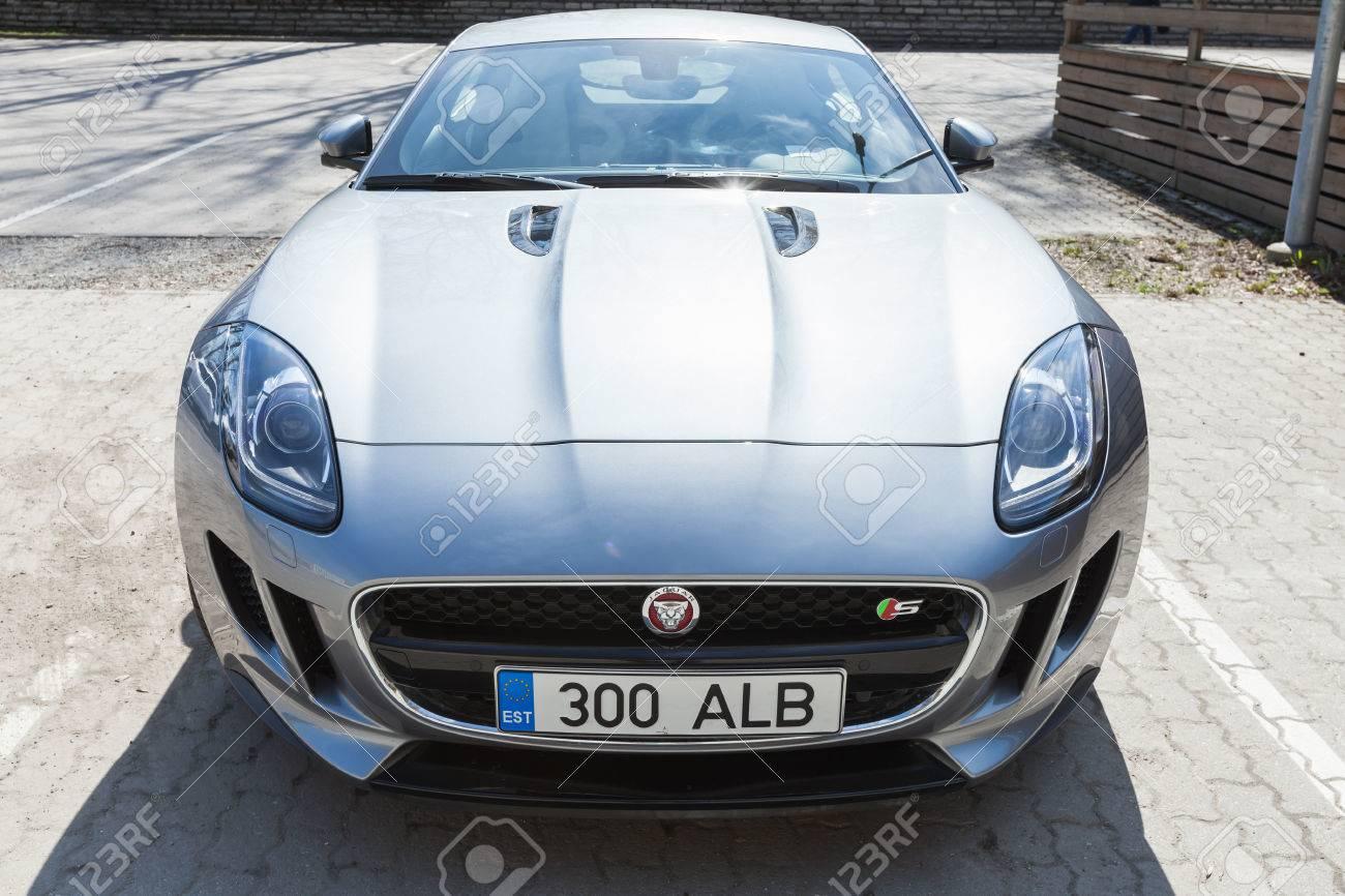 Tallinn, Estonia   May 2, 2016: Jaguar F Type Coupe, Closeup