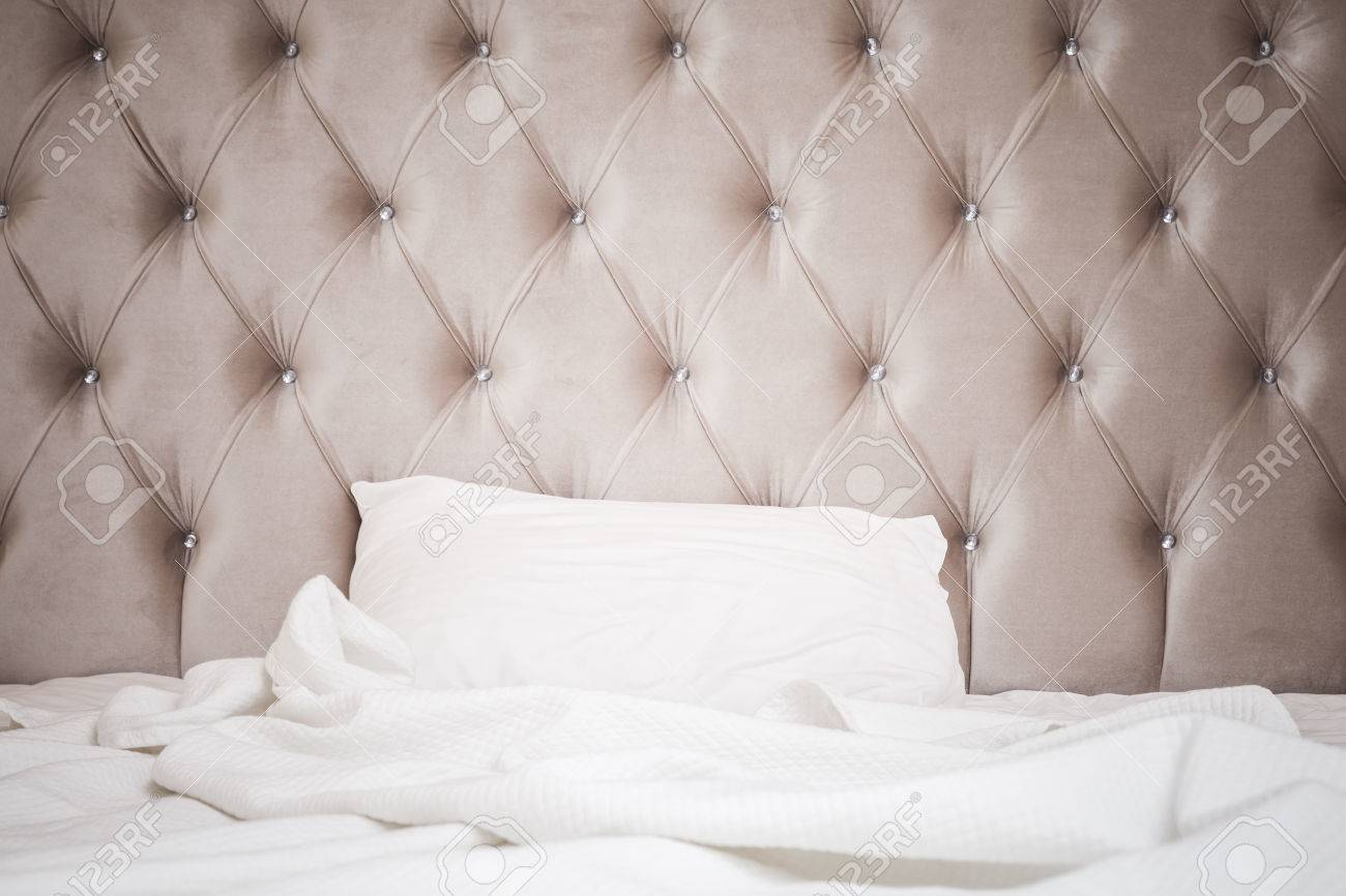 Luxury Empty Bedroom Interior Fragment Soft Pink Headboard Stock Photo Picture And Royalty Free Image Image 59687696