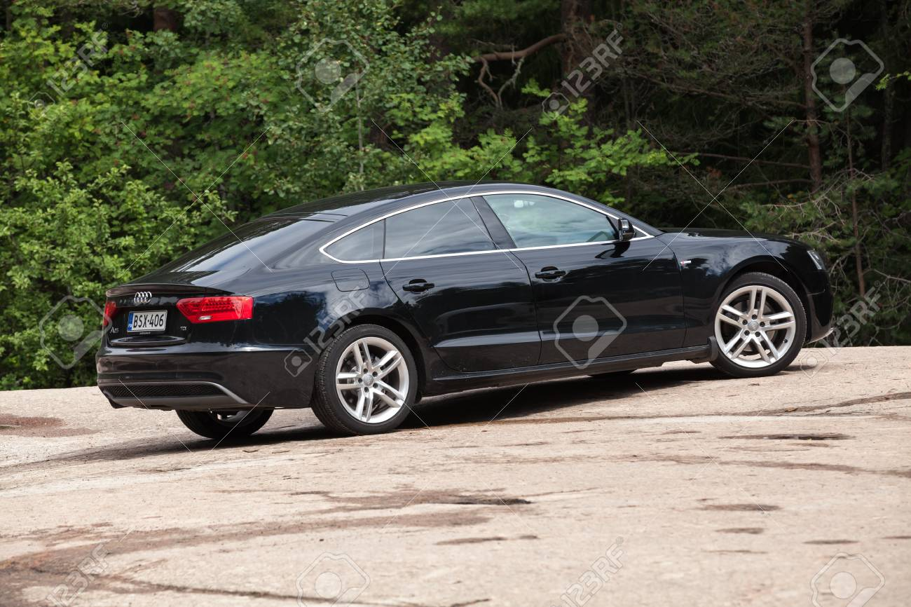 Kotka Finland July 16 2016 Black Facelift Audi A5 2 0 Tdi Stock Photo Picture And Royalty Free Image Image 59579600