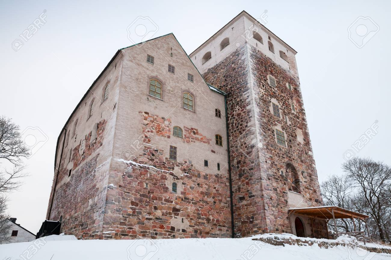 stock photo turku finland january 17 2016 turku castle the largest surviving medieval building in finland it was founded in 13th century and stands