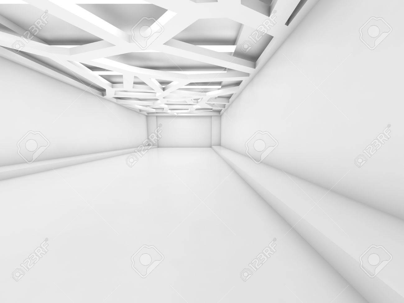 Résumé Fond Blanc Vide Intérieur Avec Système D'éclairage Au Plafond on