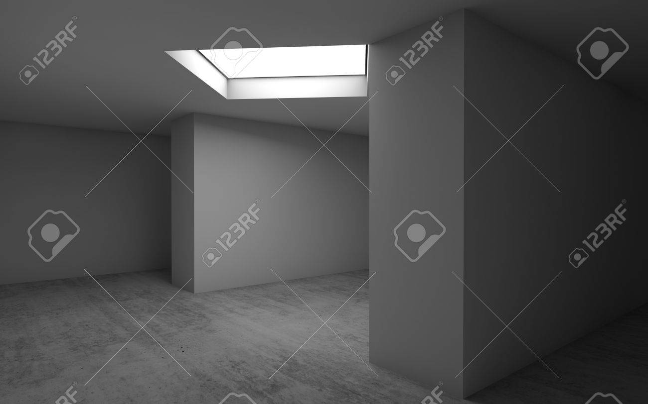 Abstrait Architectural Contemporain, Intérieur De La Salle Vide. Sol ...