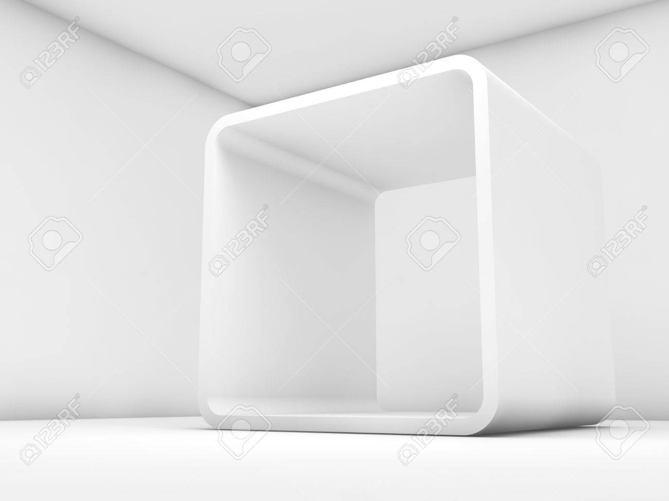 Abstract White Empty Interior, Contemporary Design Of A Room.. Stock ...