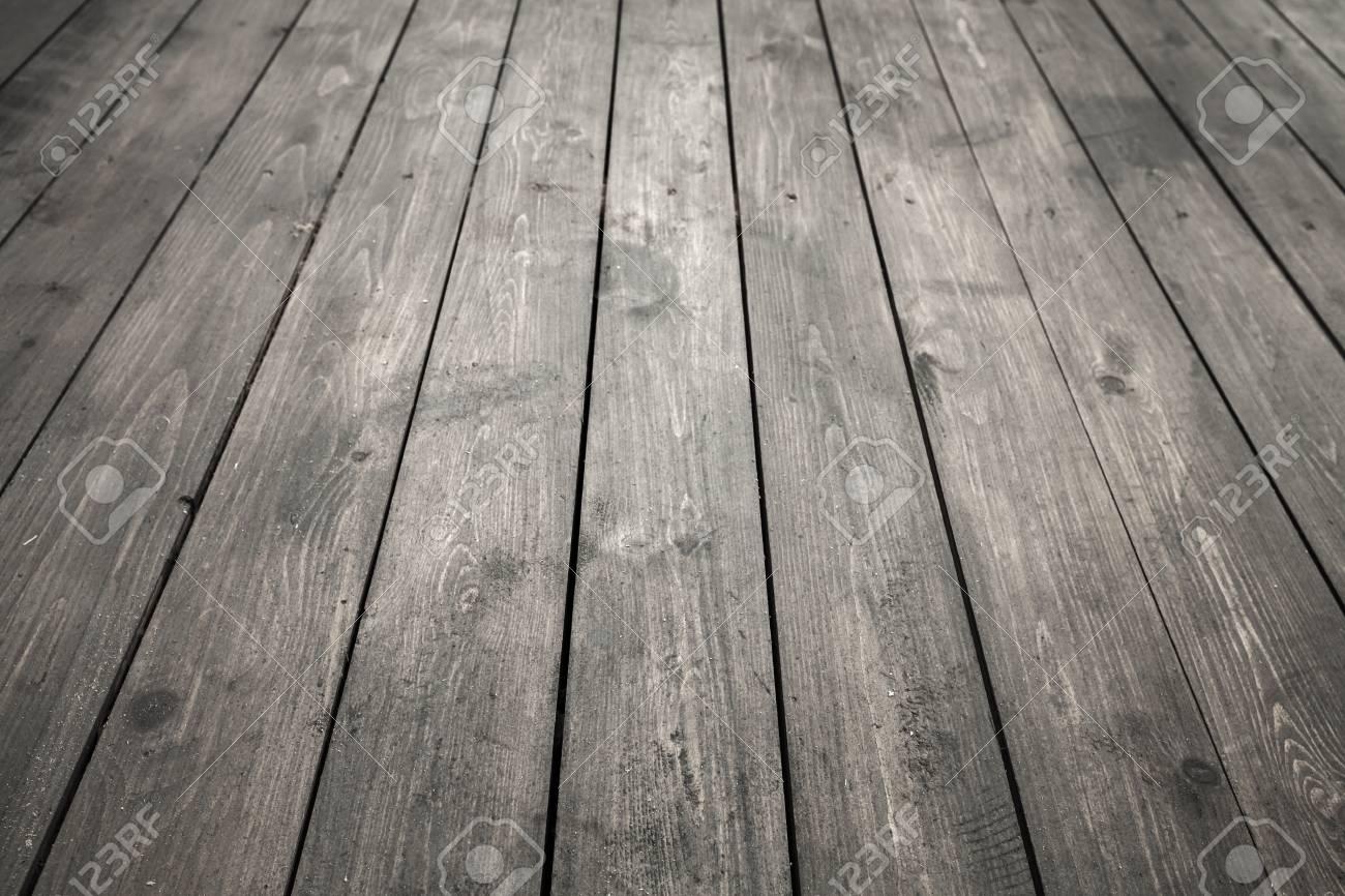 Dark Gray Wooden Floor Background Photo Texture With Perspective