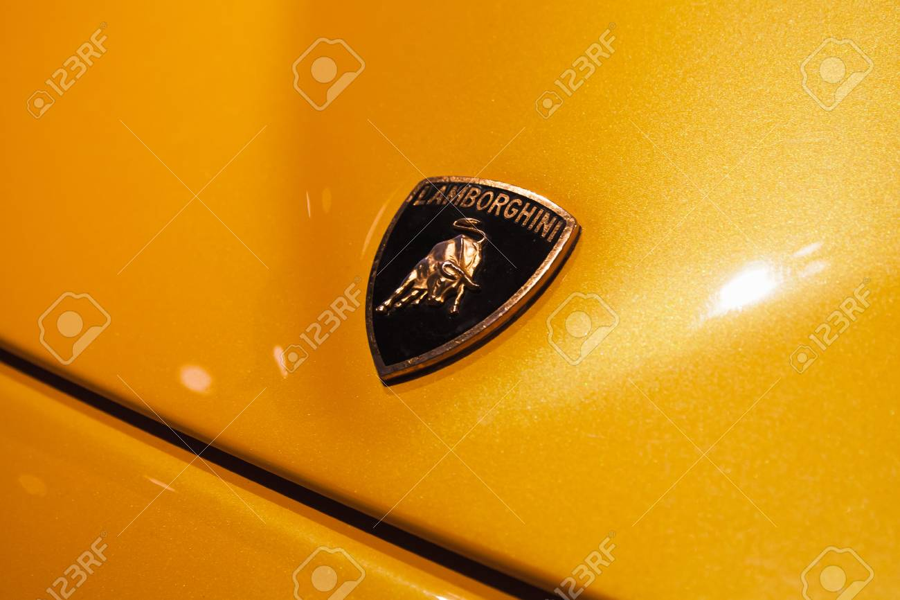 Sttersburg Russia November 6 2017 Emblem Of Lamborghini