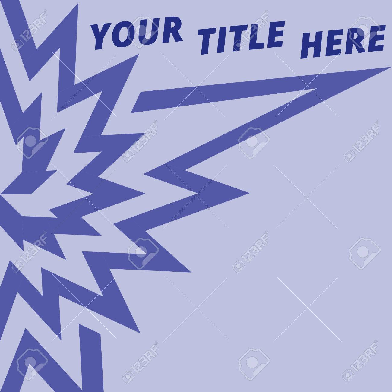Blue Text Notice Background With Flower Symbol Royalty Free Cliparts