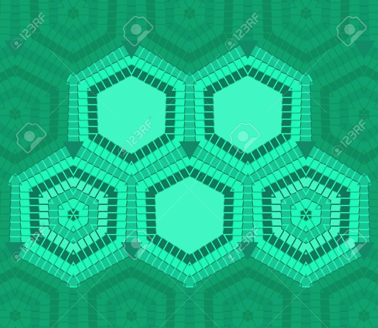 Perfecto Plantilla Hexagonal Gratis Bandera - Ejemplo De Colección ...