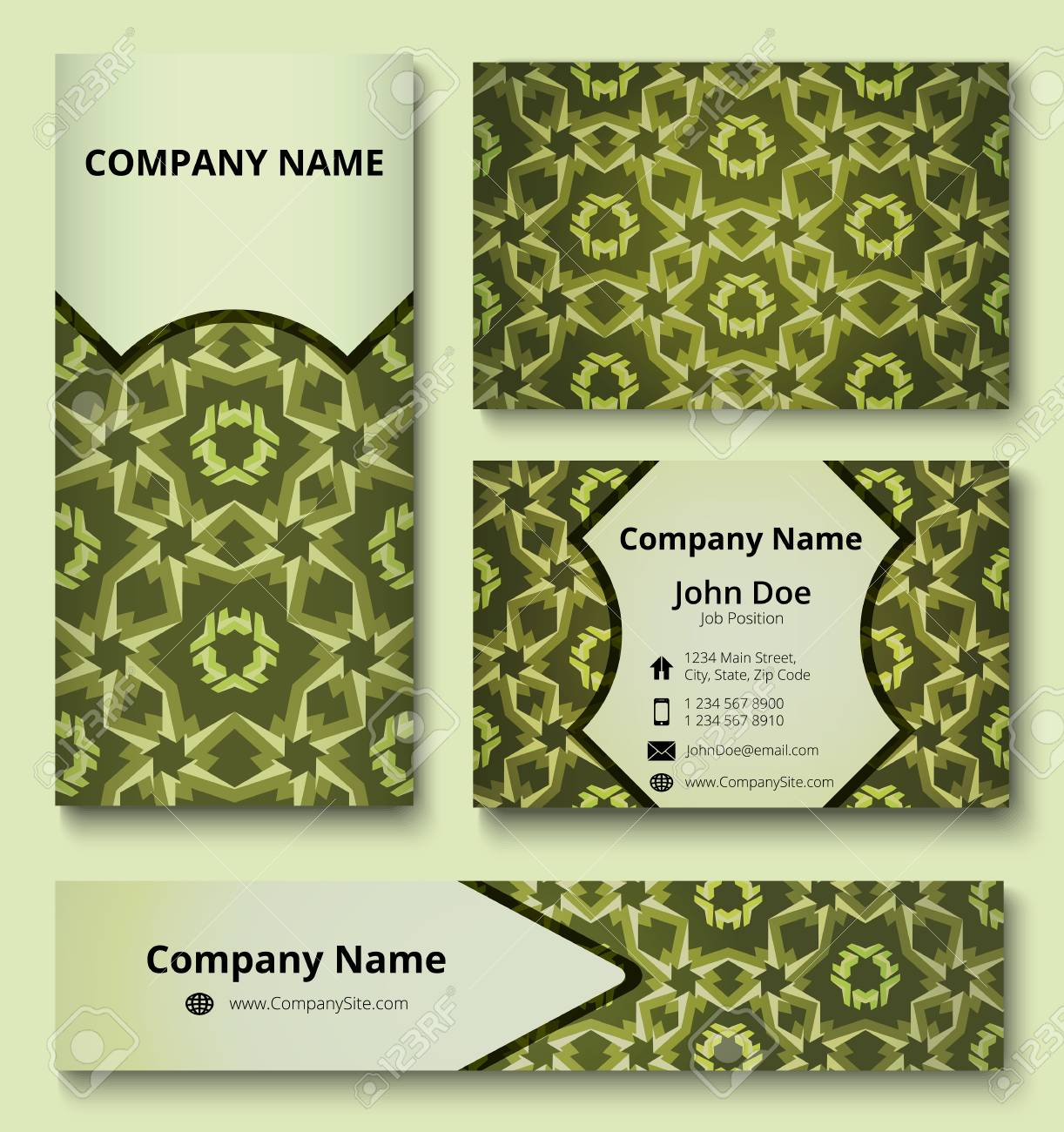 Modern Design Templates Set Of Business Card Banner And Invitation