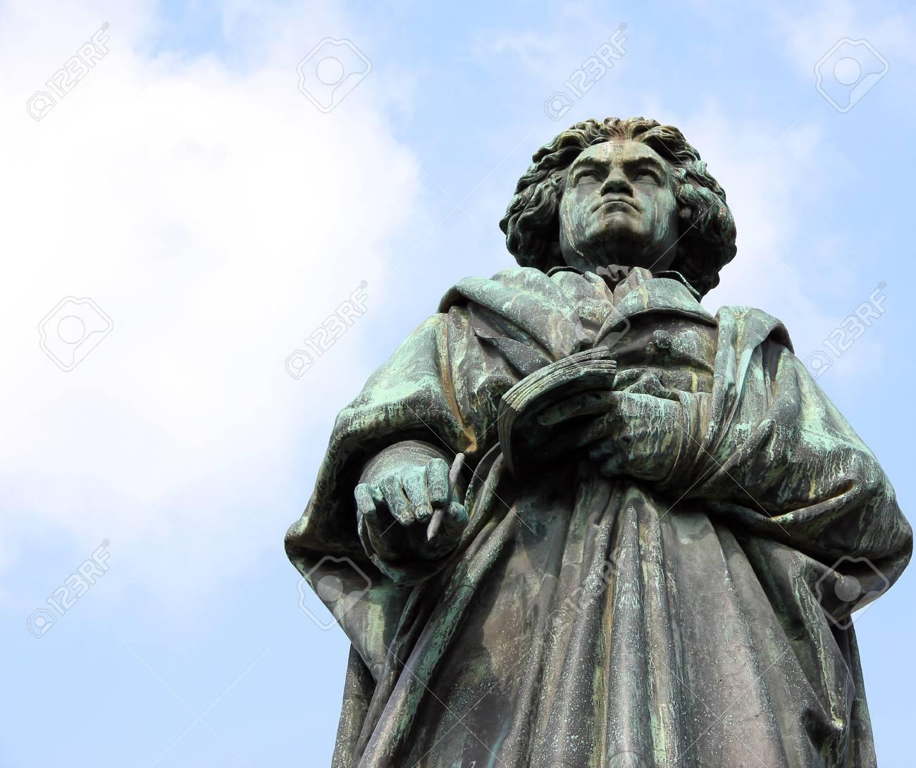 Monument of Ludwig van Beethoven in Bonn, Germany. - 90557277