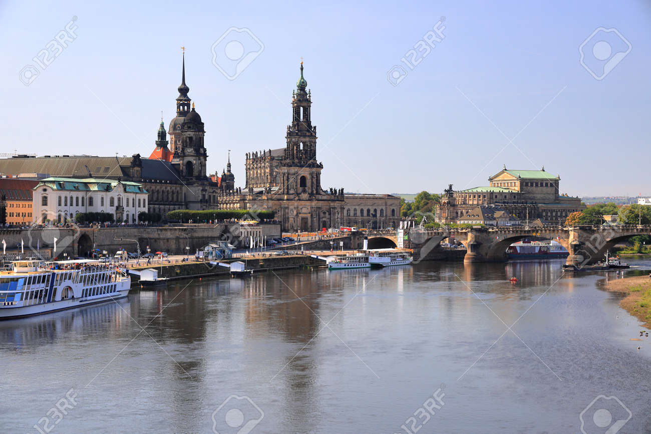 Dresden by day - Brühl's Terrace. Saxony, Germany, Europe. - 166804739