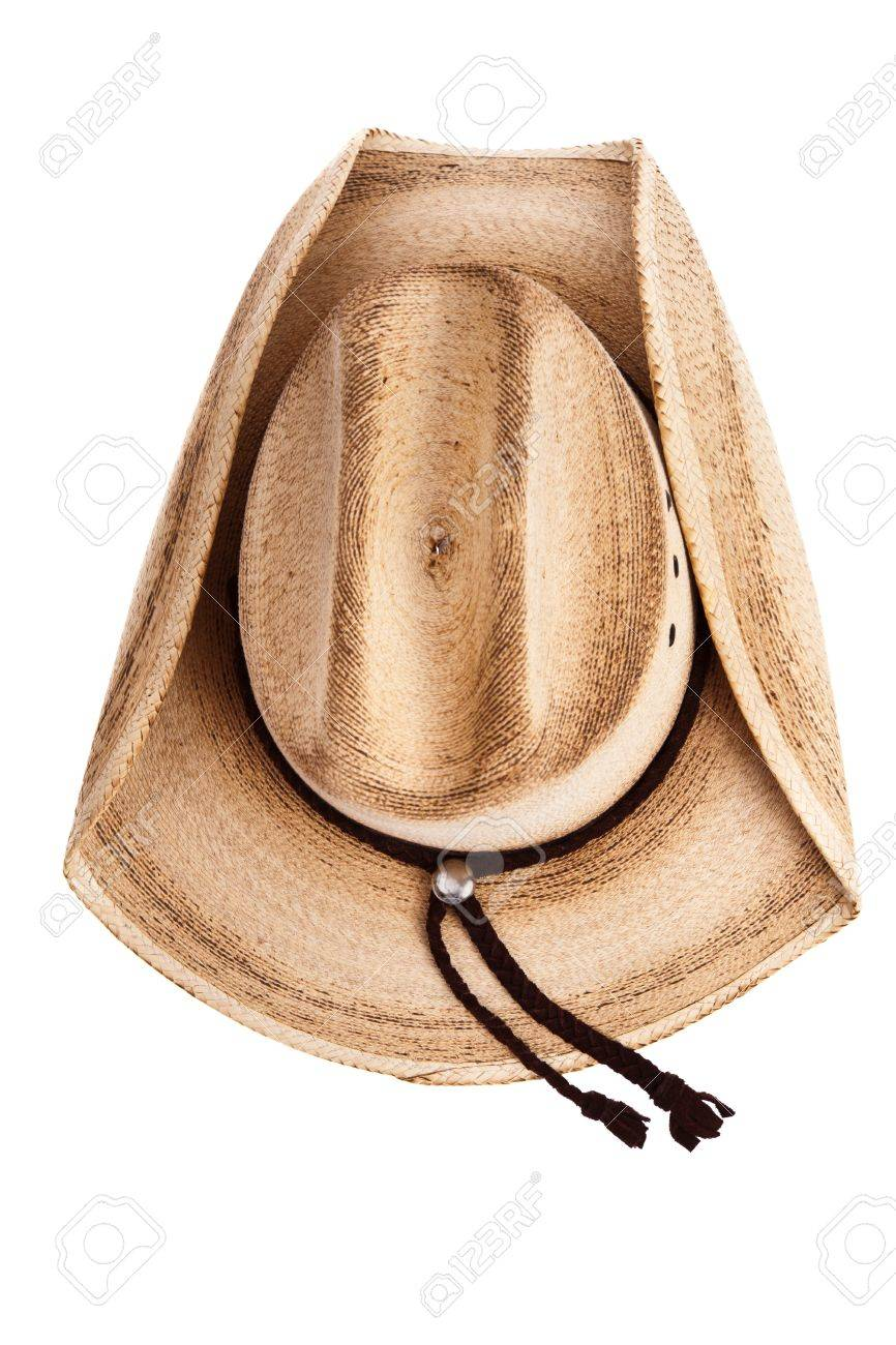 Stock Photo - Top view of a cowboy hat isolated on white 6888c042983