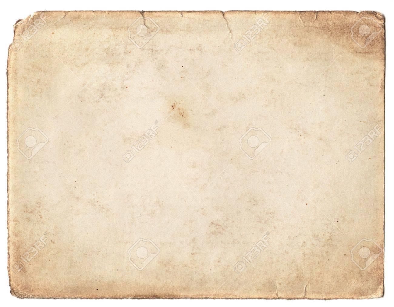 Blank vintage photo paper isolated on white background Stock Photo - 15586712