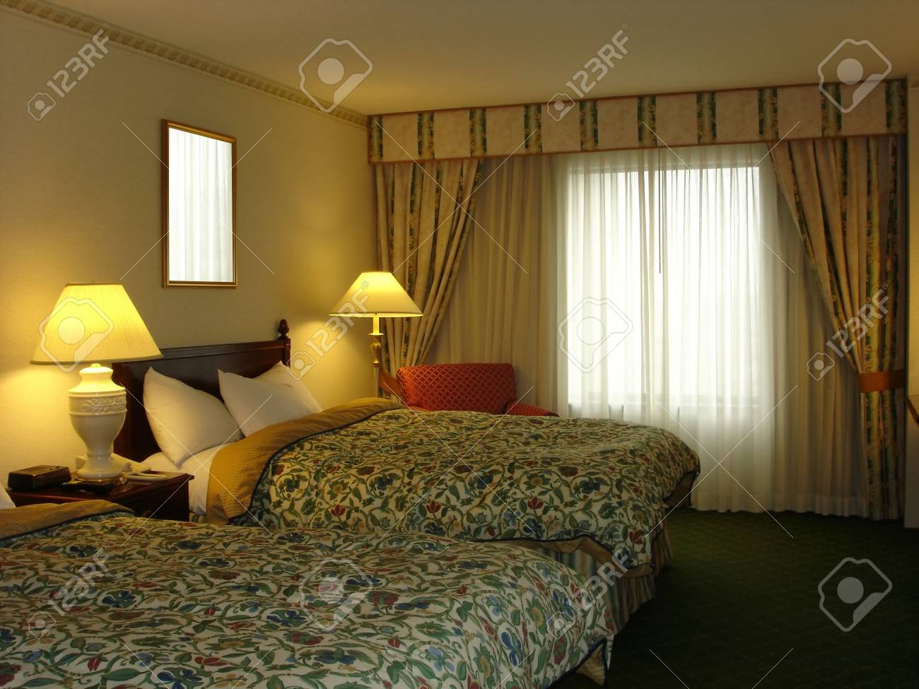 Double Double Bedroom Stock Photo - 458891