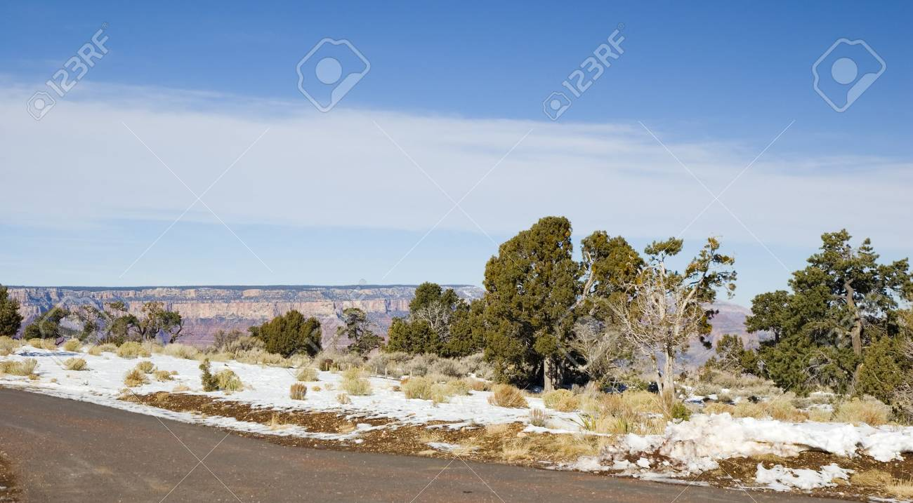 Grand Canyon in Winter as seen from Desert View Point,  Arizona Stock Photo - 2322783