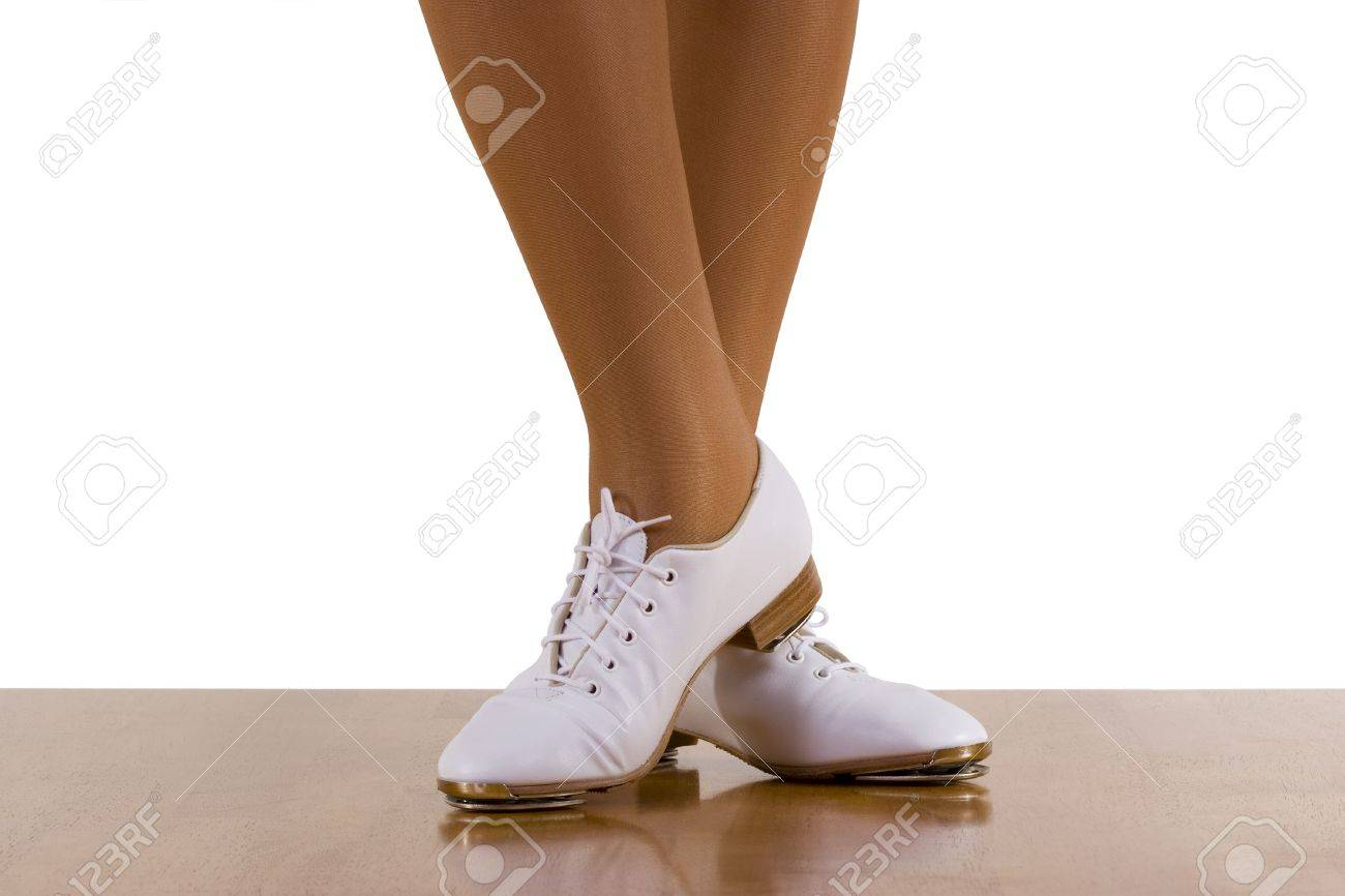 f3709312 Tap-top/Clog Dancer In Clogging Shoes; On White Stock Photo, Picture ...