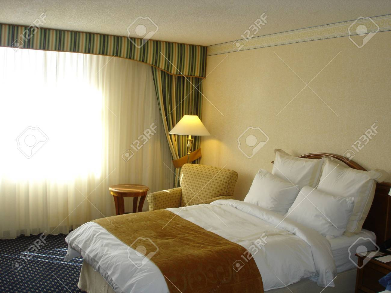 Cozy Corner in Master Bedroom with Brightly and Sunny Window Stock Photo - 2753332