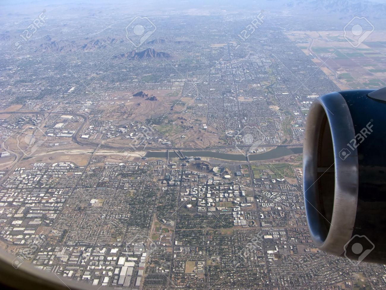 Lake Birds Eye View Bird Eye View of Phoenix And