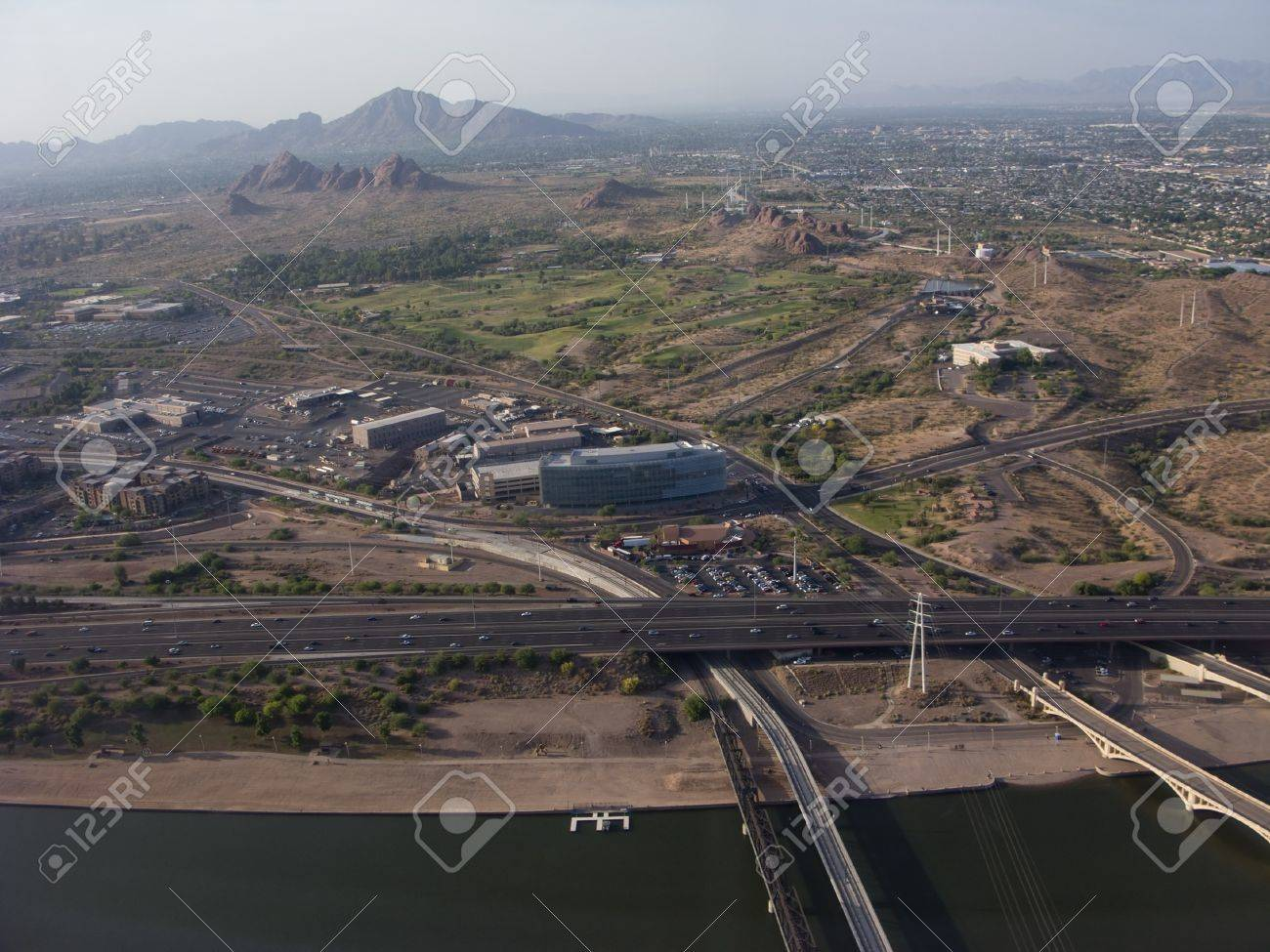 Lake Birds Eye View Bird Eye View of Phoenix Tempe