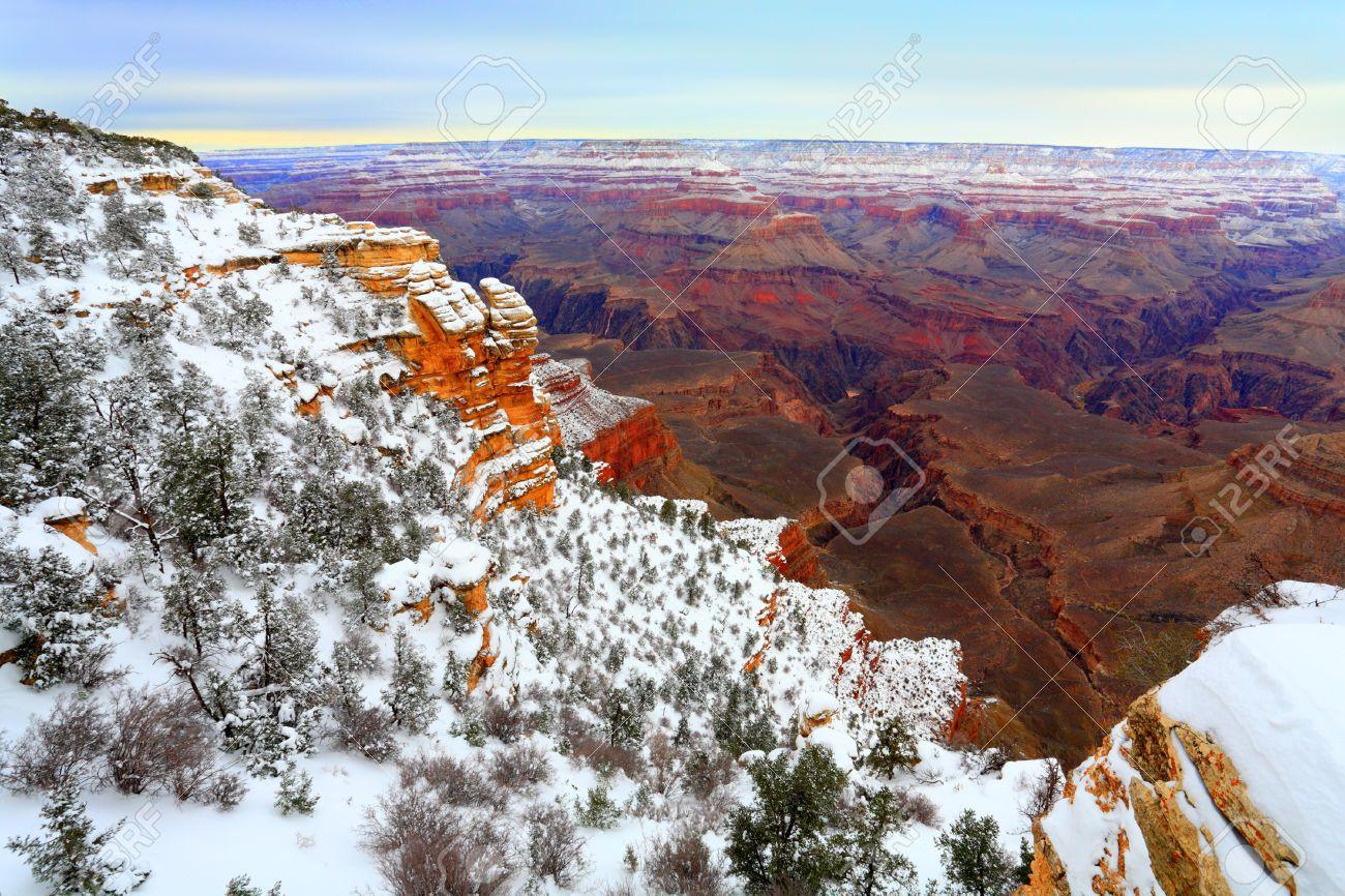 Winter In Grand Canyon South Rim December Az
