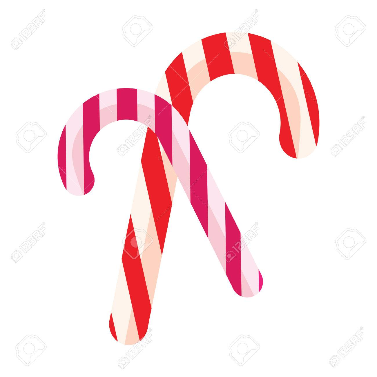 Color Icon Christmas Candy Candy On A White Background Template