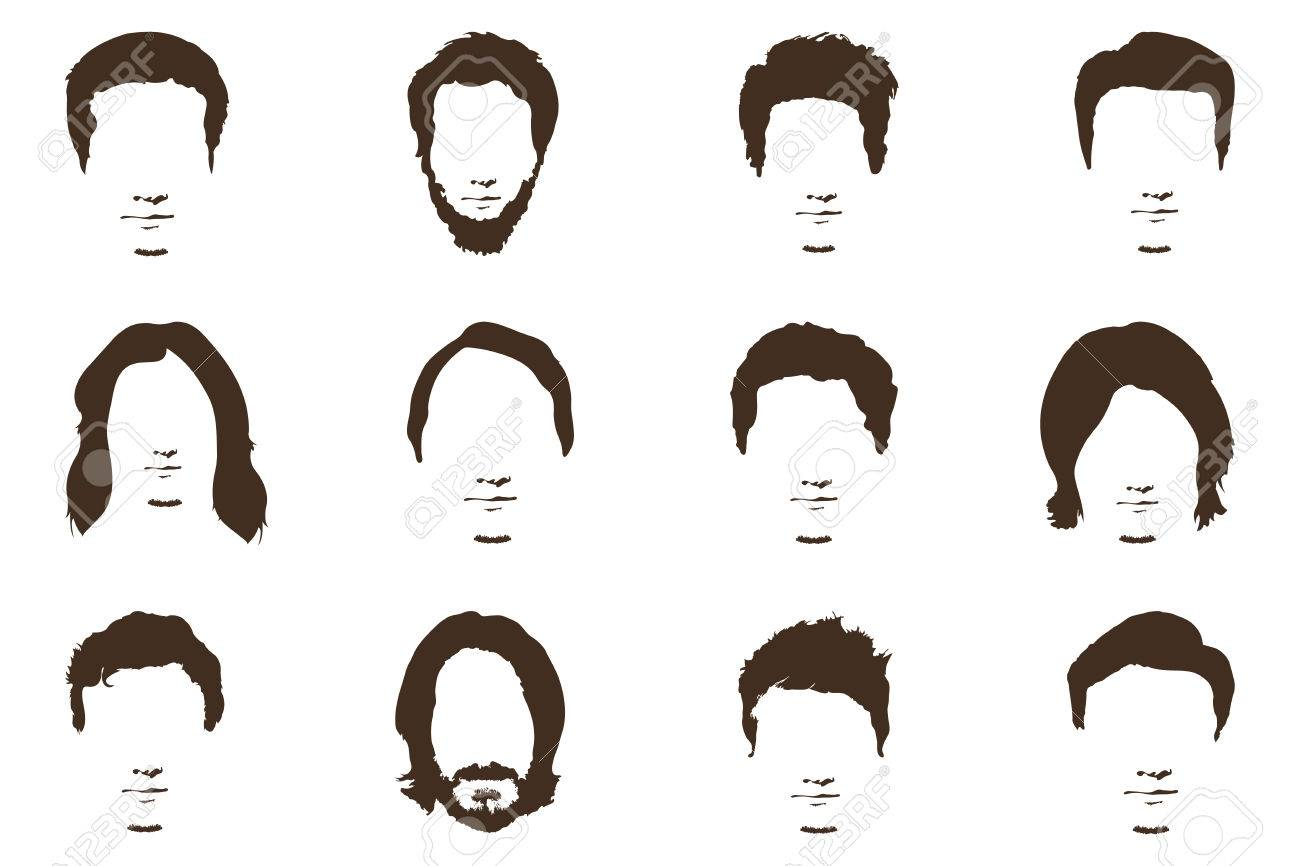 f7f097a47af Mens fashion silhouette style set of beards vector illustration stock vector  jpg 1300x866 Mens fashion silhouette