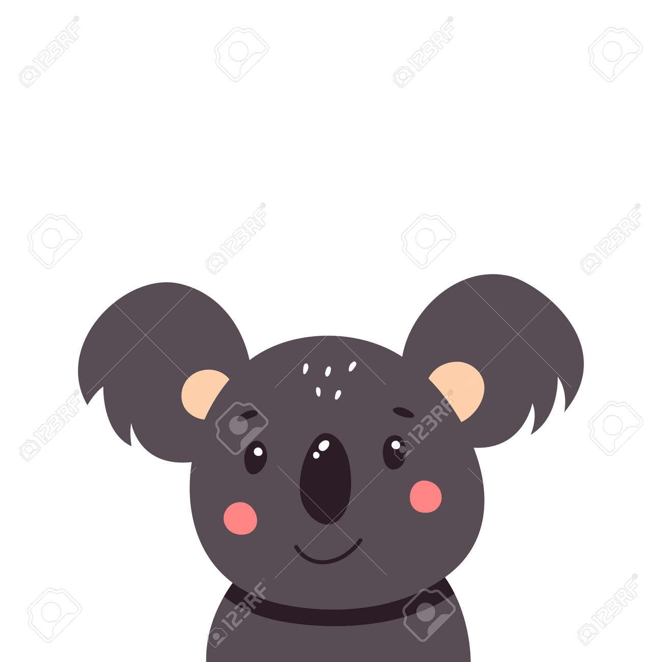 Cute koala. Vector illustration isolated on white background. - 169771670