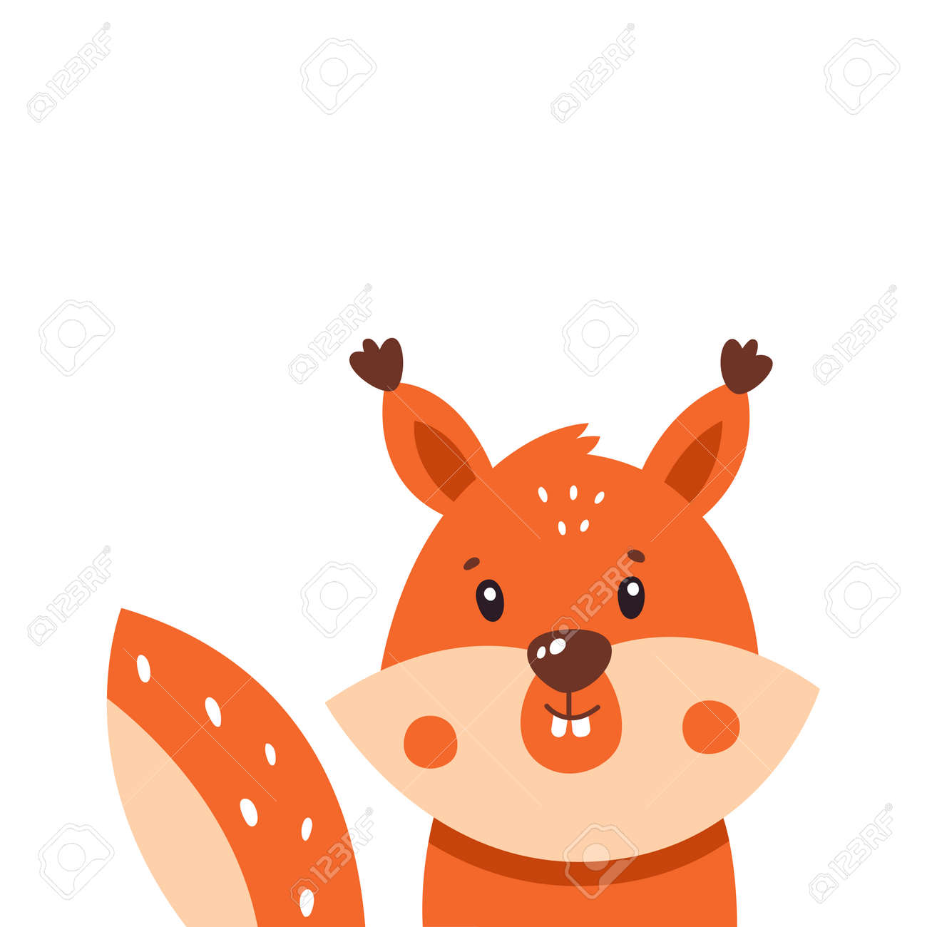 Squirrel icon. Vector illustration isolated on white background. - 169771669