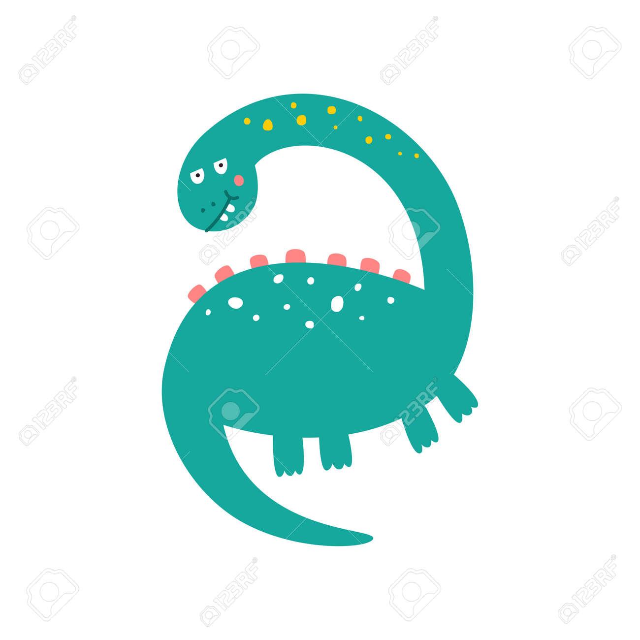 Cute dinosaur drawn as vector for kids fashion. - 169771735