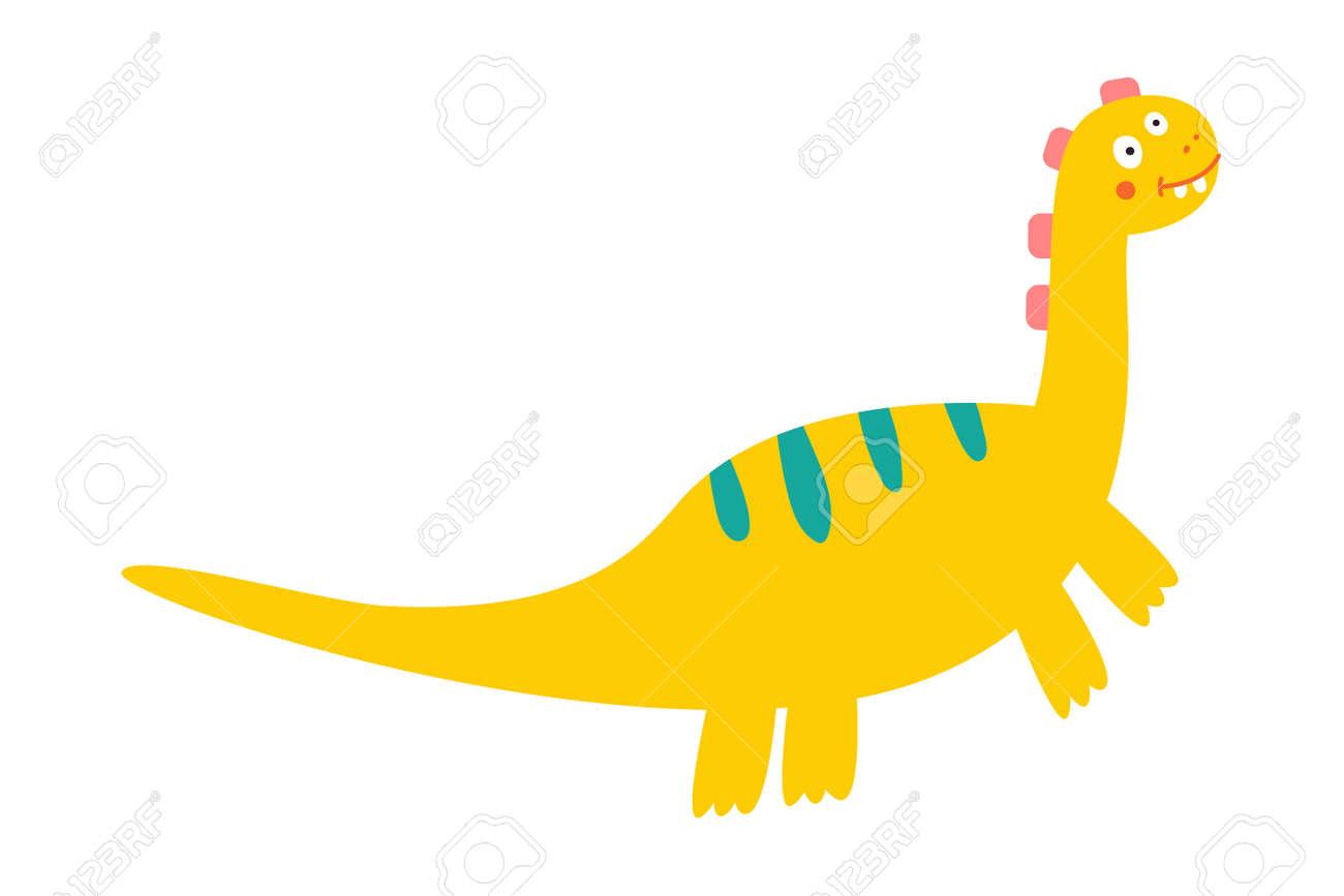 Cute dinosaur drawn as vector for kids fashion. - 169771749